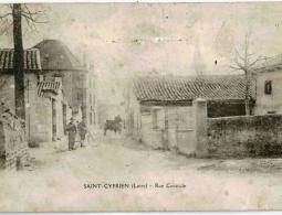 ST CYPRIEN- Rue centrale 1911