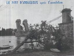 ST CYPRIEN- pont après innondation