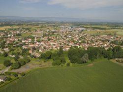 Saint-Cyprien, vue du ciel