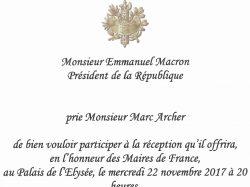 Réception des Maires ligériens à l'Elysée.