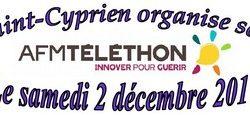 Saint-Cyprien organise son Téléthon 2017 le 2 décembre