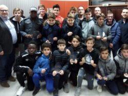 Remise de Trophées à l'équipe U15 du club de foot