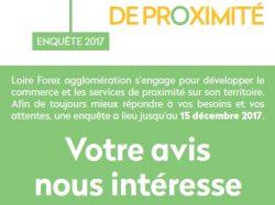 Enquête auprès de la clientèle des commerces de Loire Forez agglomération
