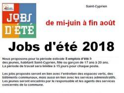 Jobs d'été 2018 : c'est parti pour les dépôts de candidature !