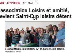 Au revoir «Loisirs Amitié», Bonjour «Saint-Cyp loisirs détente»