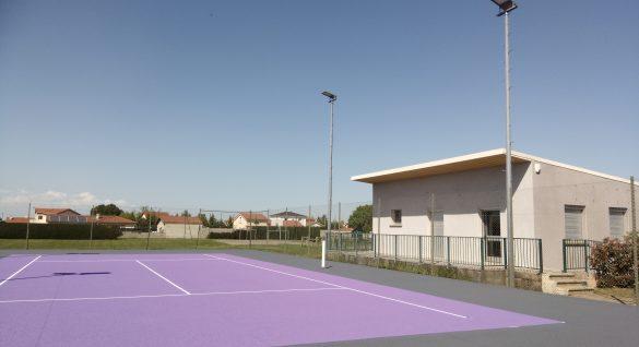 Rénovation des courts de tennis
