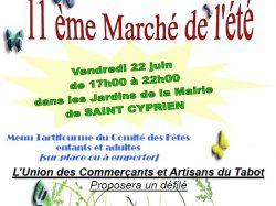 11ème Marché de l'été de Saint-Cyprien