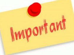 Information importante : Facture Eau
