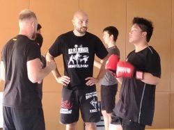 Samedi matin : 1ère séance de Kick Boxing, un succès !