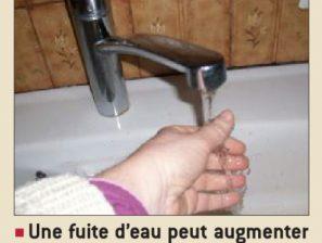Vérifiez régulièrement votre compteur d'eau