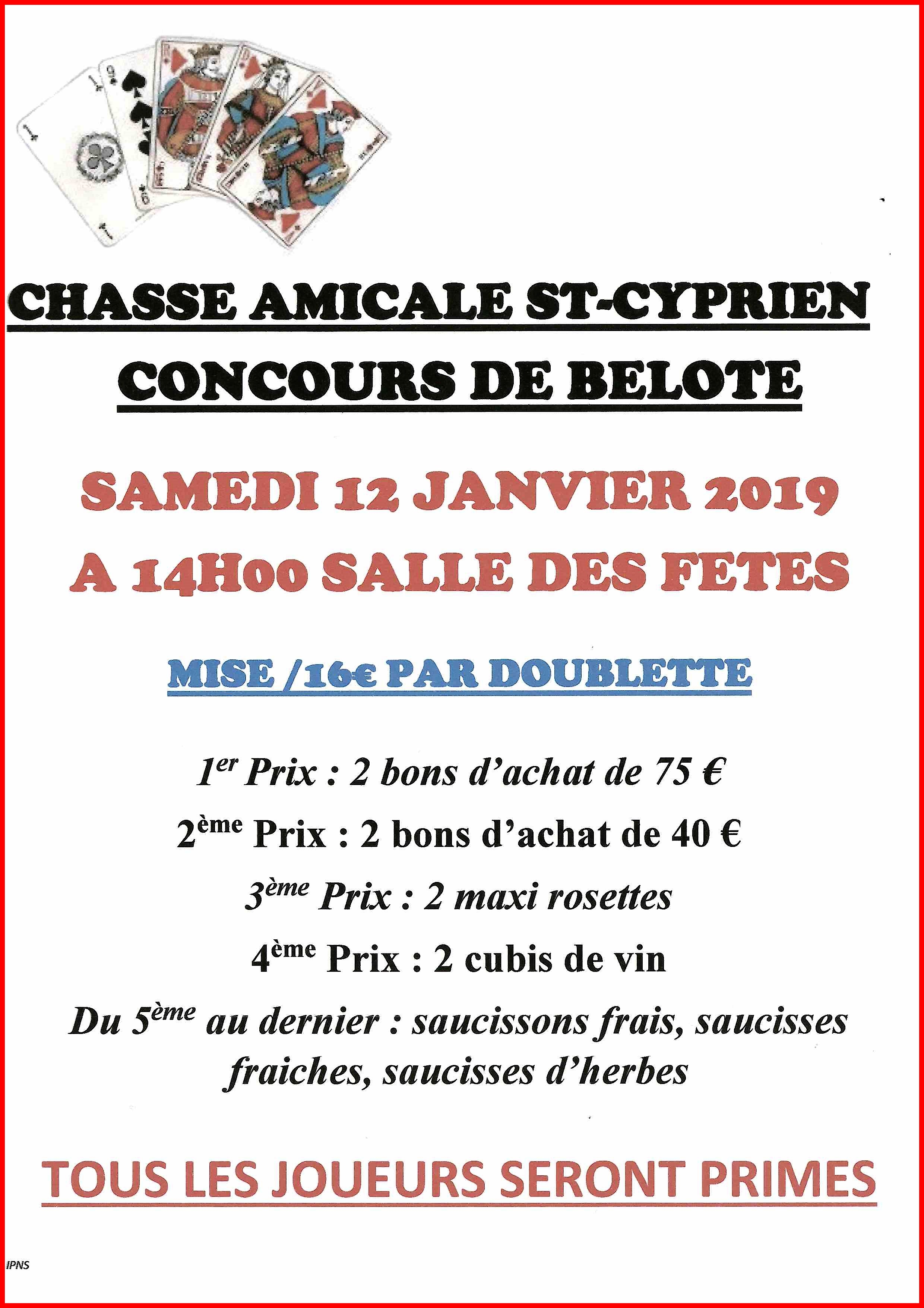 AFFICHE CHASSE