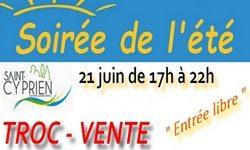 Une nouveauté à Saint-Cyprien : le 21 juin aura lieu la SOIRÉE de L'ÉTÉ