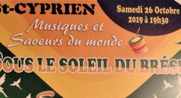 Sous le soleil du BRÉSIL le 26 octobre à Saint-Cyprien : les réservations sont ouvertes !