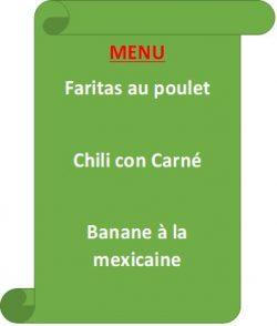 menu MEX