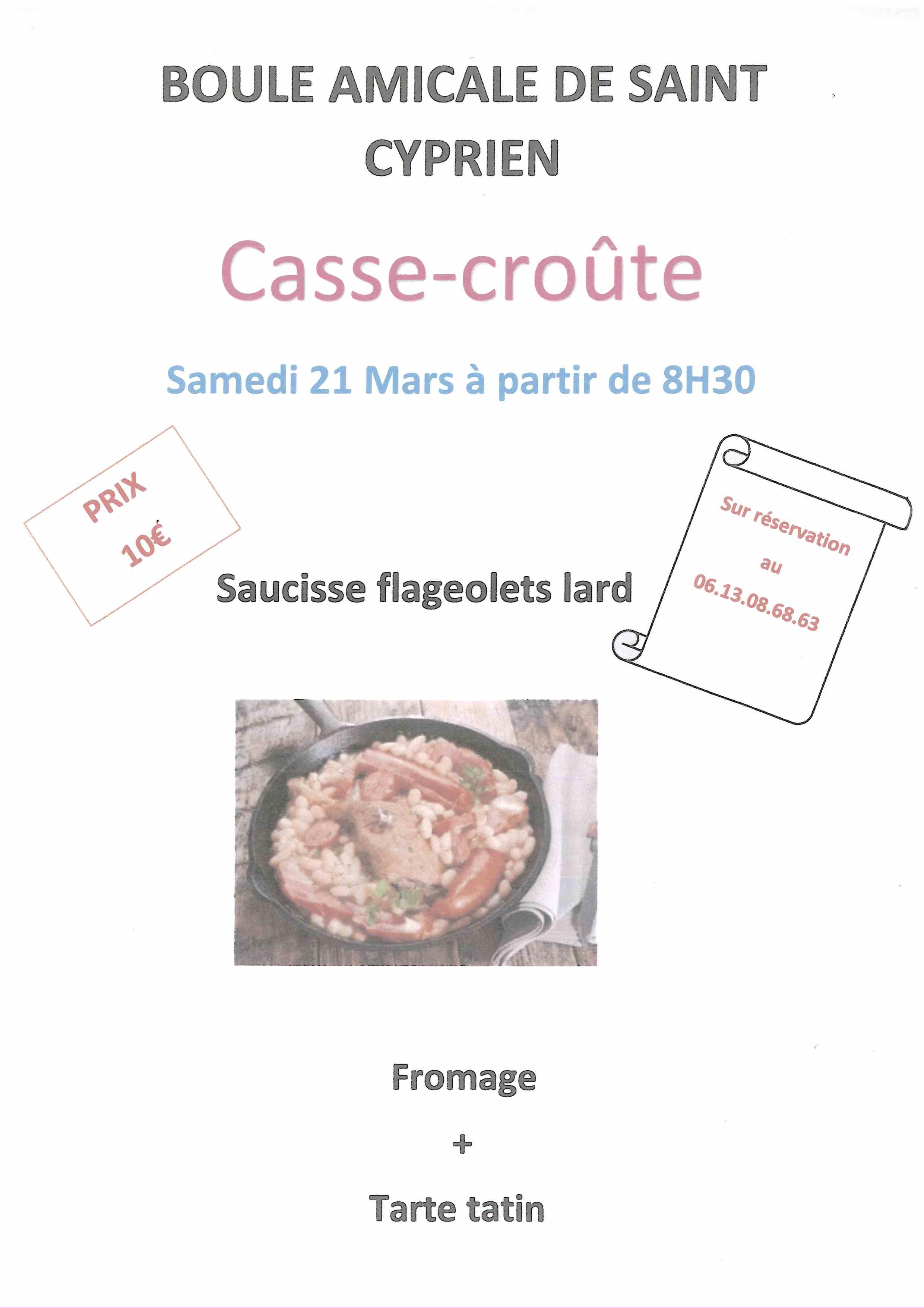 Boule Amicale Casse croûte