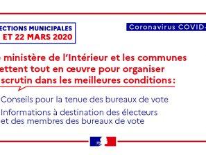 [Coronavirus – COVID-19] / ELECTIONS MUNICIPALES 15 ET 22 MARS 2020