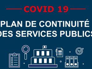 [COVID-19] – Confinement et continuité du service public