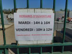 [COVID-19] Ouverture du cimetière 2 jours par semaine
