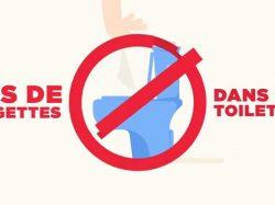 [COVID-19] – Ne jetez pas vos lingettes dans les toilettes