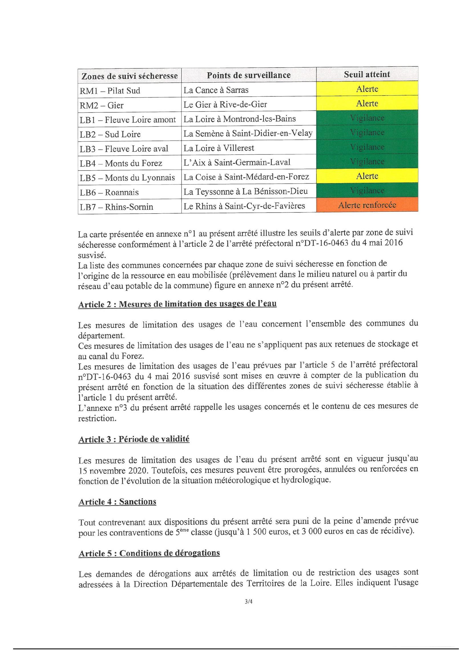 arrêté préfectoral sécheresse - 3