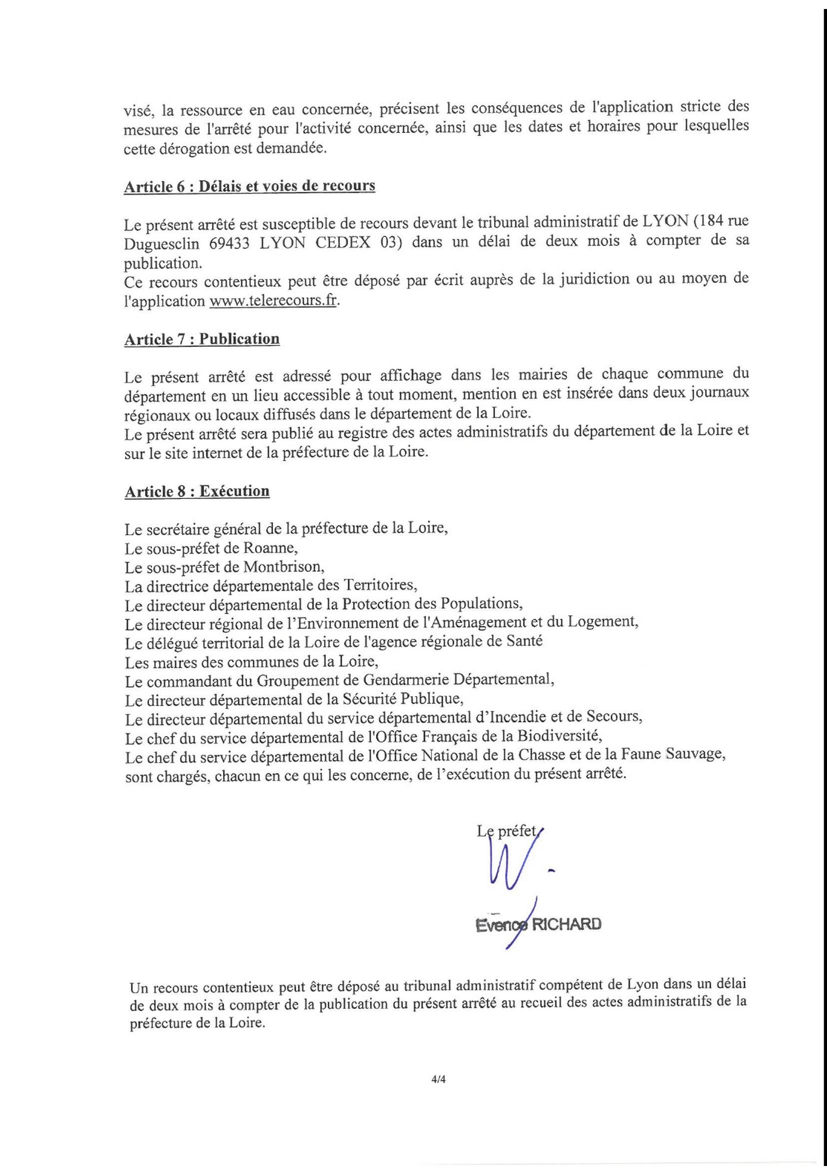 arrêté préfectoral sécheresse - 4