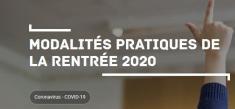 [Coronavirus] Règles et mesures pour la rentrée scolaire 2020