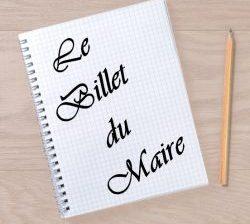 Billet du Maire : mandat 2020 – 2026