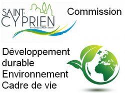 Commission Développement durable – Environnement – Cadre de vie
