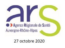 Message de l'ARS Auvergne-Rhône-Alpes  : maintien de la vigilance envers les personnes à risques face à la Covid-19