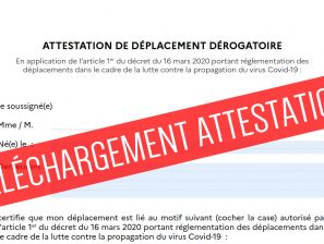 [COVID-19] ATTESTATIONS ET JUSTIFICATIFS DE DEPLACEMENT à télécharger