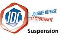 Info Recensement militaire : Suspension des Journées Défense et Citoyenneté (dite «Journée d'Appel»)