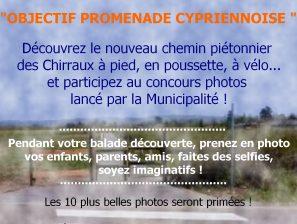 Concours photos pour inaugurer le nouveau chemin piétonnier des Chirraux !
