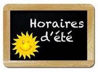 // 2021 \\ HORAIRES D'ETE DE LA MAIRIE, DE l'AGENCE POSTALE ET DE LA BIBLIOTHEQUE